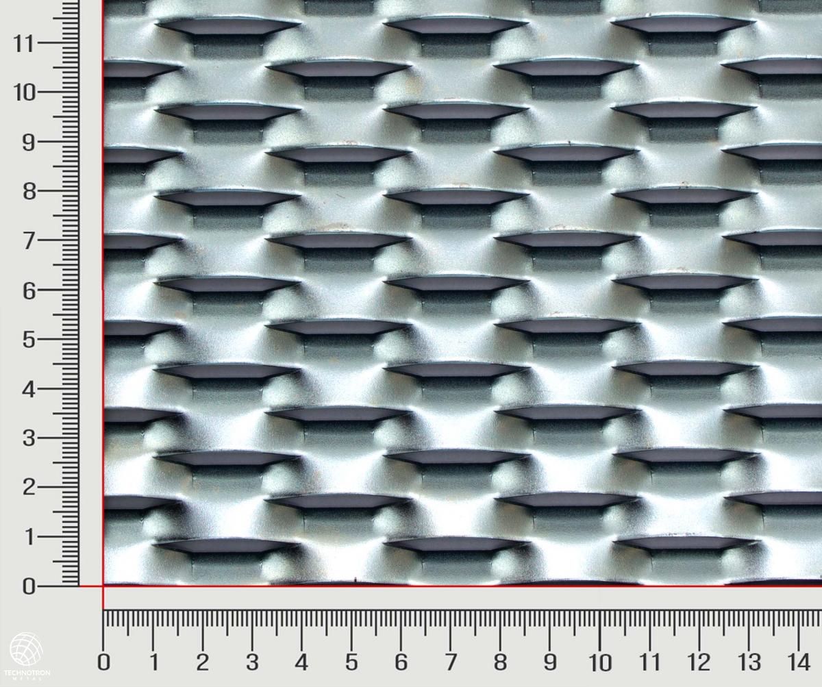 Plotová výplň Strong TH 47 x 18 x 8 mm, tloušťka 1,5 mm, Tahokov z ocelového plechu DC01-DC05