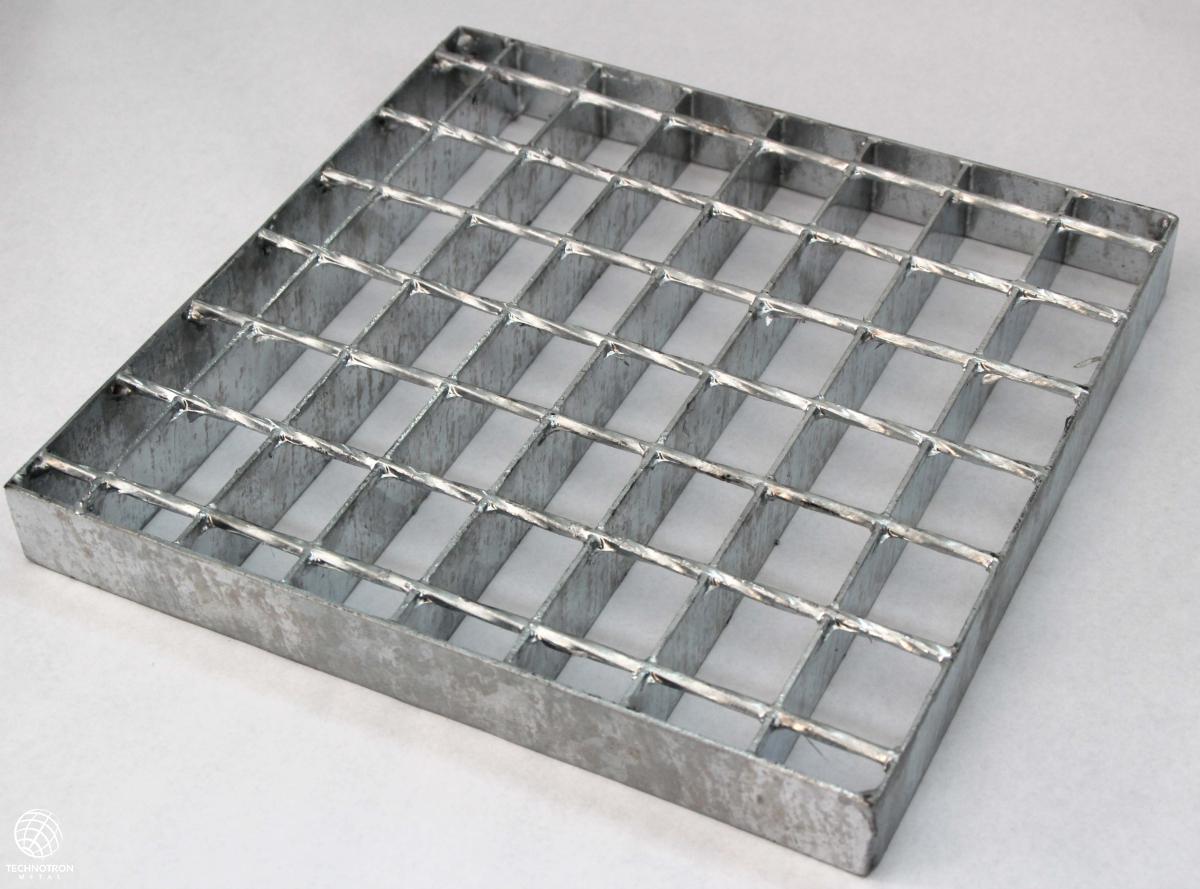 Rošt - SP - svařovaný - ocel, žárový zinek / 34 x 38 / 30 x 2 / 1000 x 1000 mm