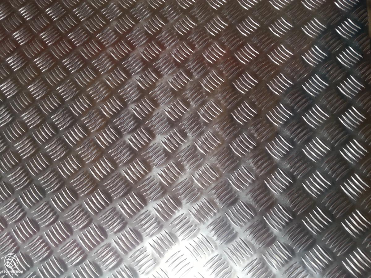 Slzičkový protiskluzový hliníkový plech Quintet 3/5 (4,5) mm