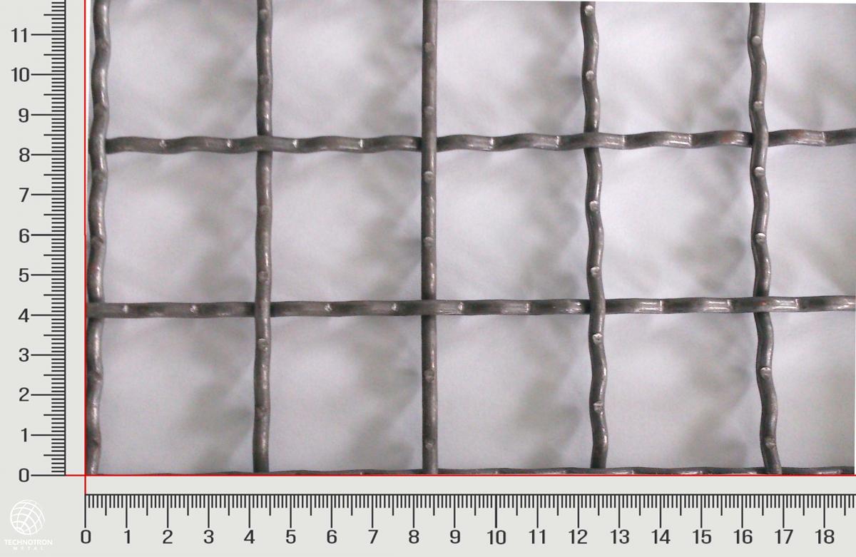 Žebérkové pletivo 40 x 40, průměr drátu 3 mm, materiál nerez 1.4301, formát 1000x2000 mm