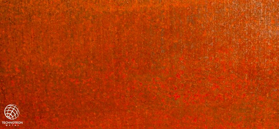 Cor-ten plech tloušťka 3 mm
