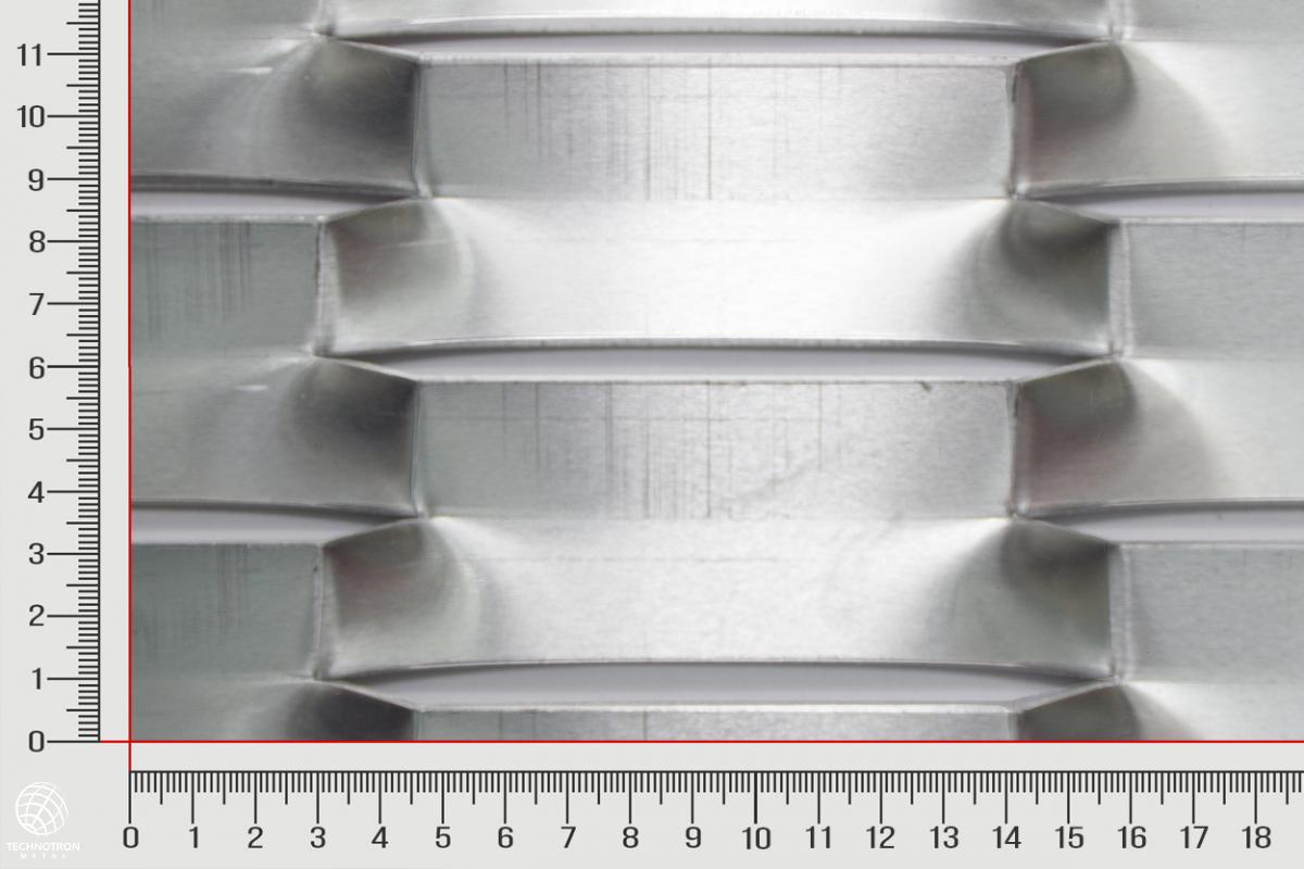 Tahokov Boldness max  TH 225 x 52 x 24 x  2 mm, tahokov z hliníkového plechu ENAW1050