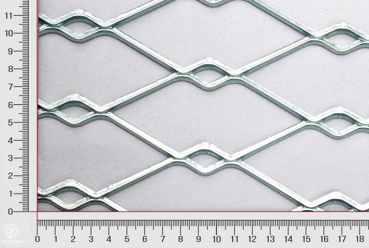 Plotová výplň TJX Dvojoko 150 x 46 x 4 mm, 4.0x1250x2000 mm, Tahokov z ocelového plechu DD11-DD13/S235