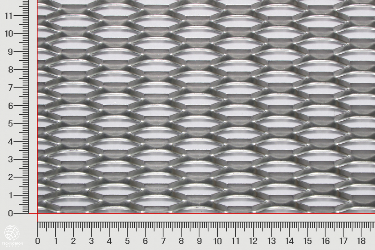 Plotová výplň z  tahokovu Power TH 47 x 13 x 5 x 2mm, Tahokov z hliníkového plechu ENAW1050