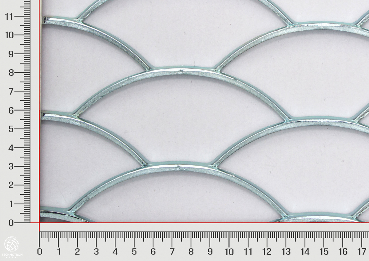 Tahokov  Rybí šupina TJX 150 x 52 x 4 mm, 4.0 x 1250 x 2000, Tahokov z ocelového plechu DD11-DD13/S235