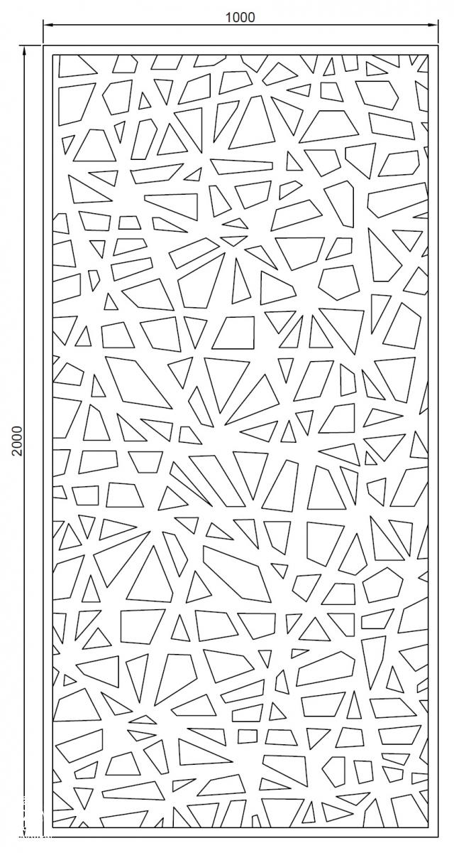 Laser plech Shards