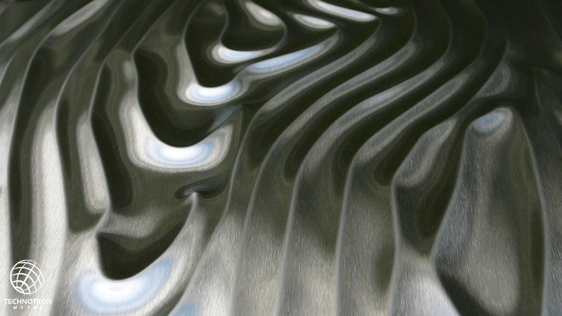 3D plech Woodgrain