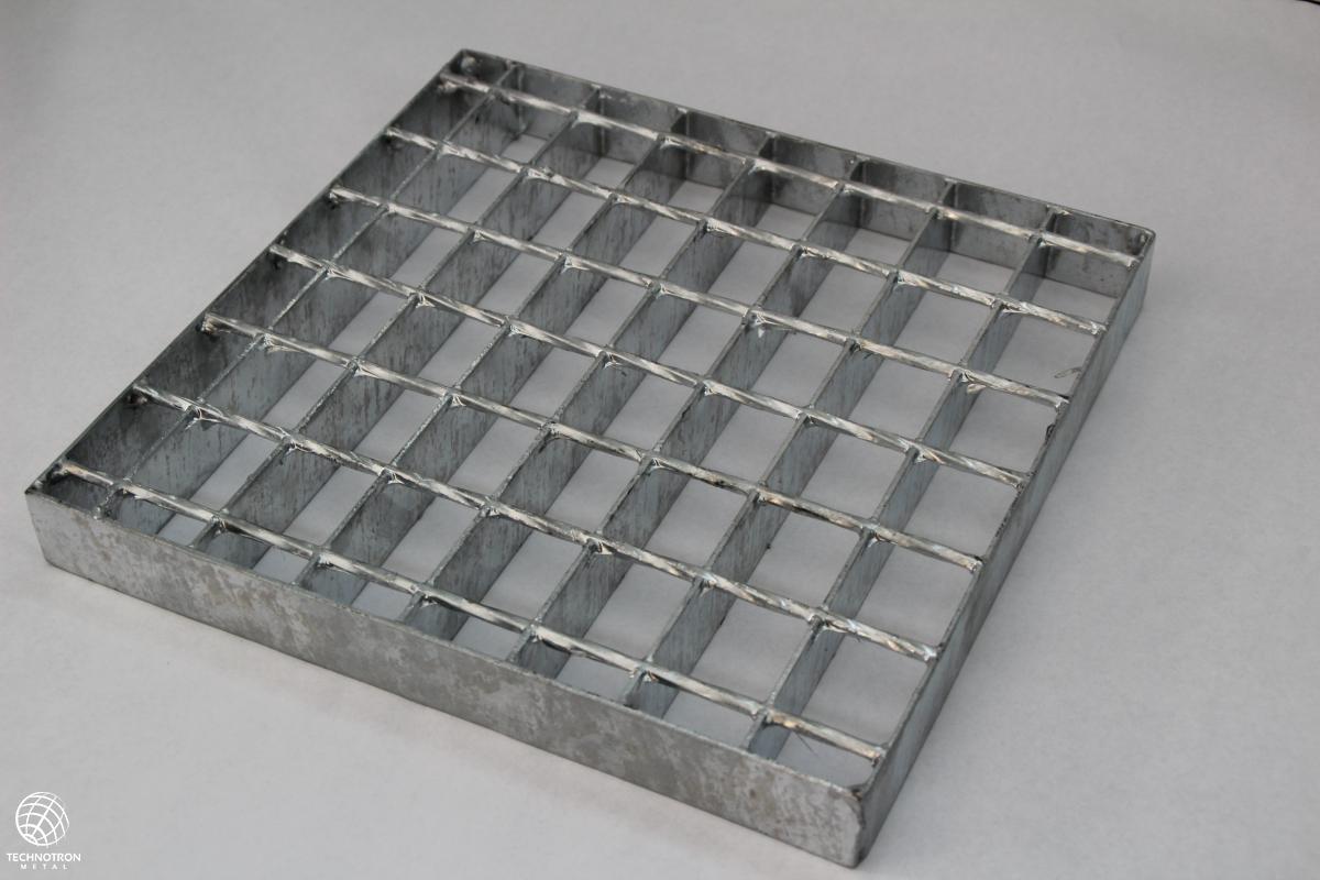 Rošt - SP - svařovaný - ocel, surový / 34 x 38 / 30 x 2 / 1000 x 1000 mm