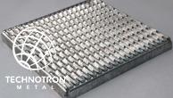 Rošt - tahokovový - ocel, žárový zinek / 47x13x5x3 mm / 1200 x 1200 x 50 mm