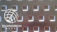 SO - ozdobné výstupek přesazeně 20x20-40 mm  ;  tloušťka 1 mm, Děrovaný ocelový plech DC01-DC05