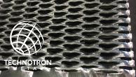 Schodišťový stupeň - tahokovový - ocel, žárový zinek / 62,5x15x5x3 mm / 1000 x 240 mm